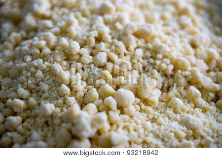 Close Up Of Cookie Crumble Topping