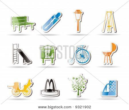 Park objects and signs icon