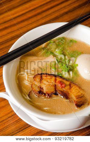 Japanese Ramen With Grilled Pork