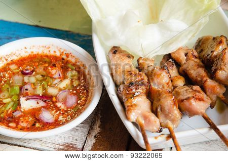 Barbecued Pork With Spicy Sauce