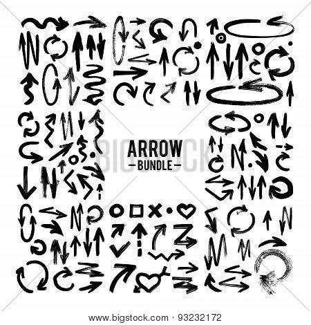Vector Brush Stroke Arrow Collection