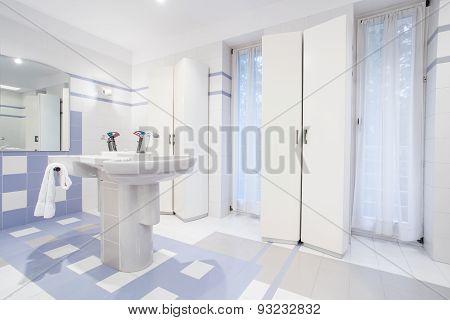 Washstand In Fresh Restroom