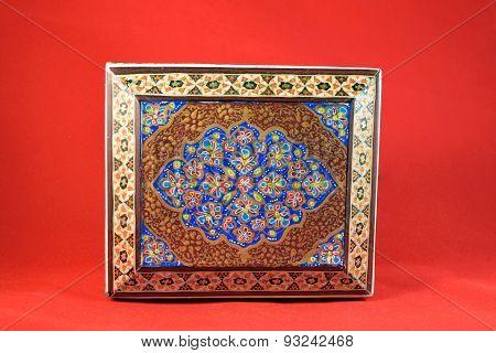 Khaatam, Khatam kari, Handicraft made in Esfahan Naqshe Jahan Square, Iran poster
