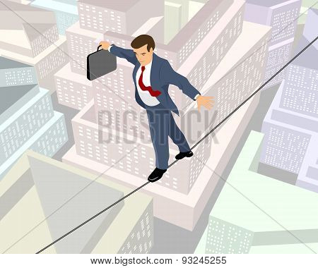 Businessman A Rope
