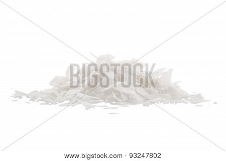 Coconut's Chips, Isolated On White Background