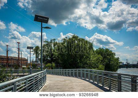 The Schuylkill Banks Boardwalk, In Philadelphia, Pennsylvania.