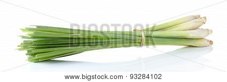 Lemon Grass Isolated On The White Background