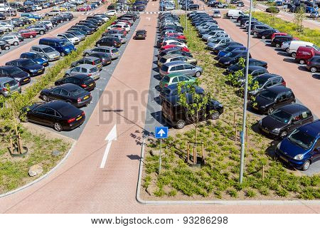 Car Park Isala Hospital In Zwolle, The Netherlands