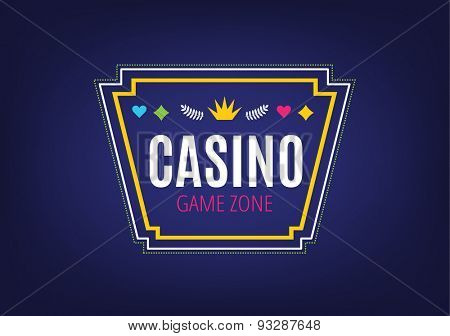 Abstract casino logo template for branding and design. Game logo and banner. Stock vector illustration.