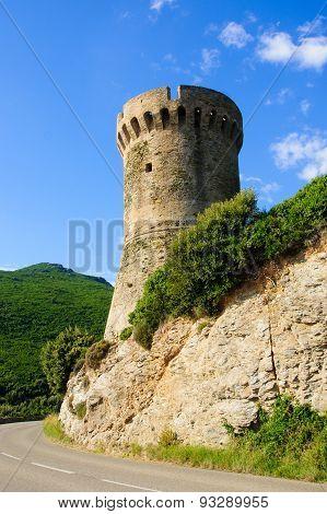 La Tour de Losse Genoese tower Cap Corse Corsica France poster