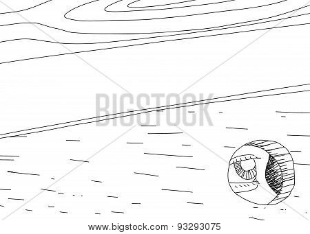 Outline Of Spy Looking Through Hole