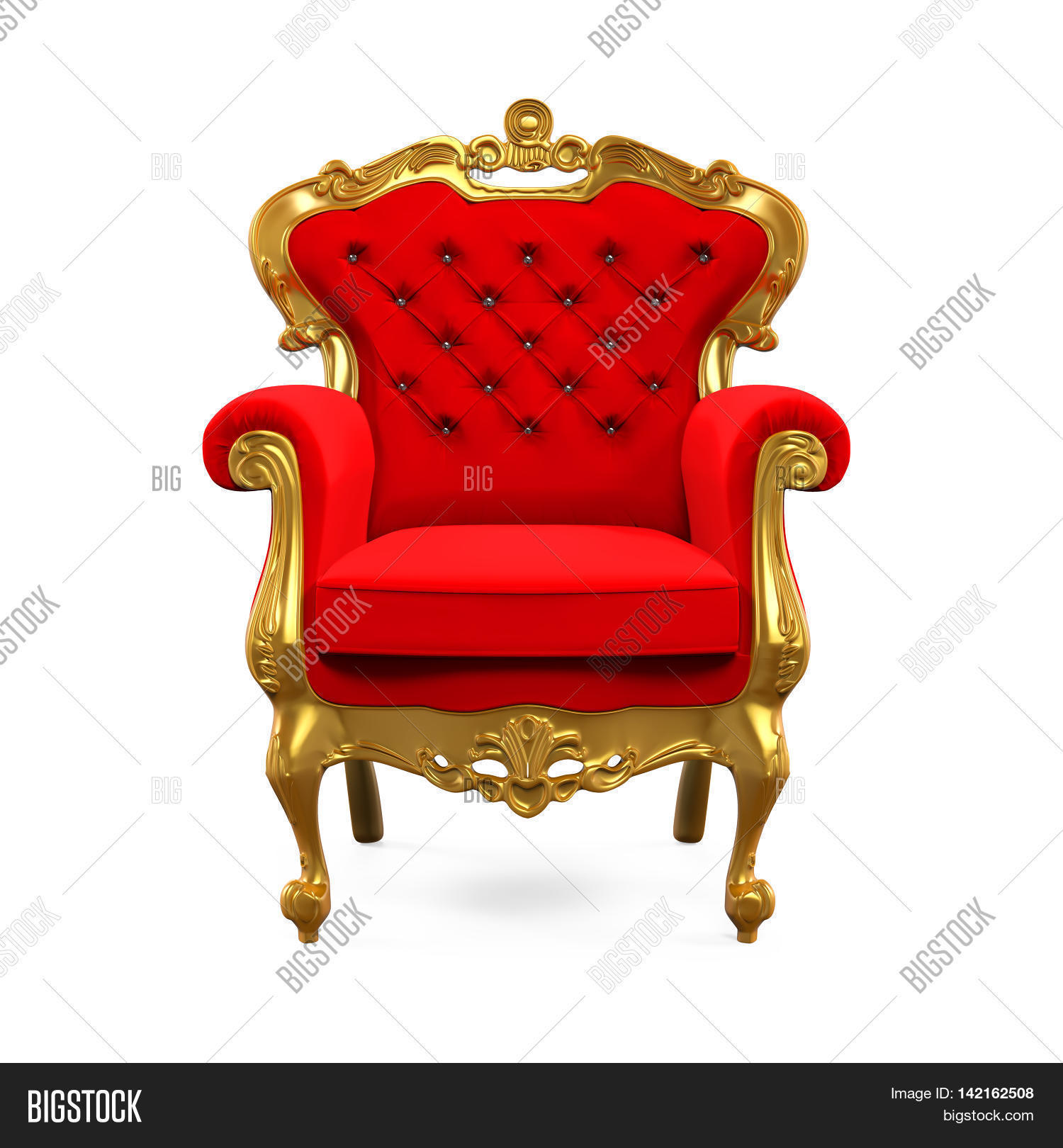 King Throne Chair isolated on white background. 3D render  sc 1 st  Bigstock & King Throne Chair Image u0026 Photo (Free Trial) | Bigstock