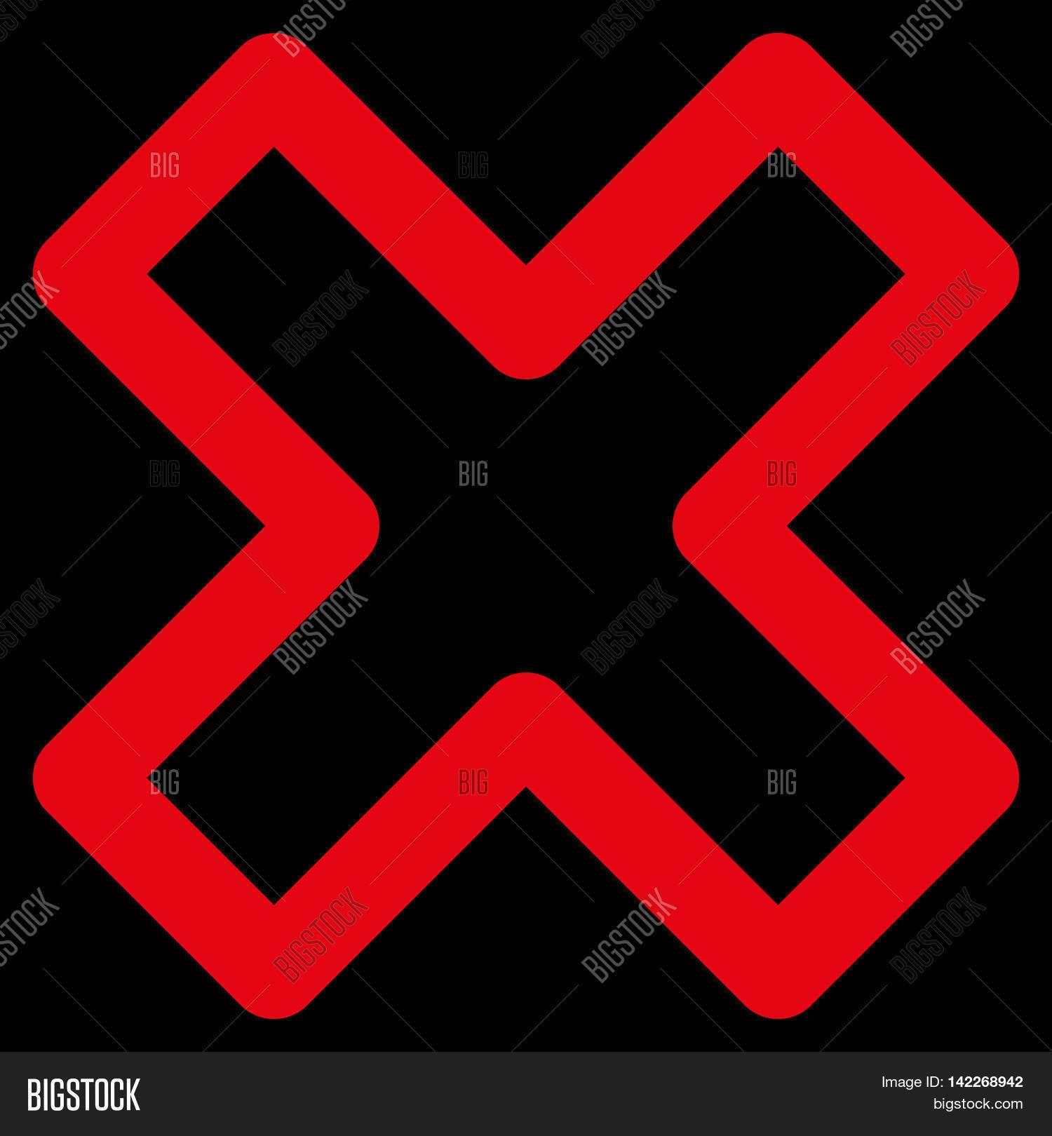 Delete X Cross Glyph Image Photo Free Trial Bigstock