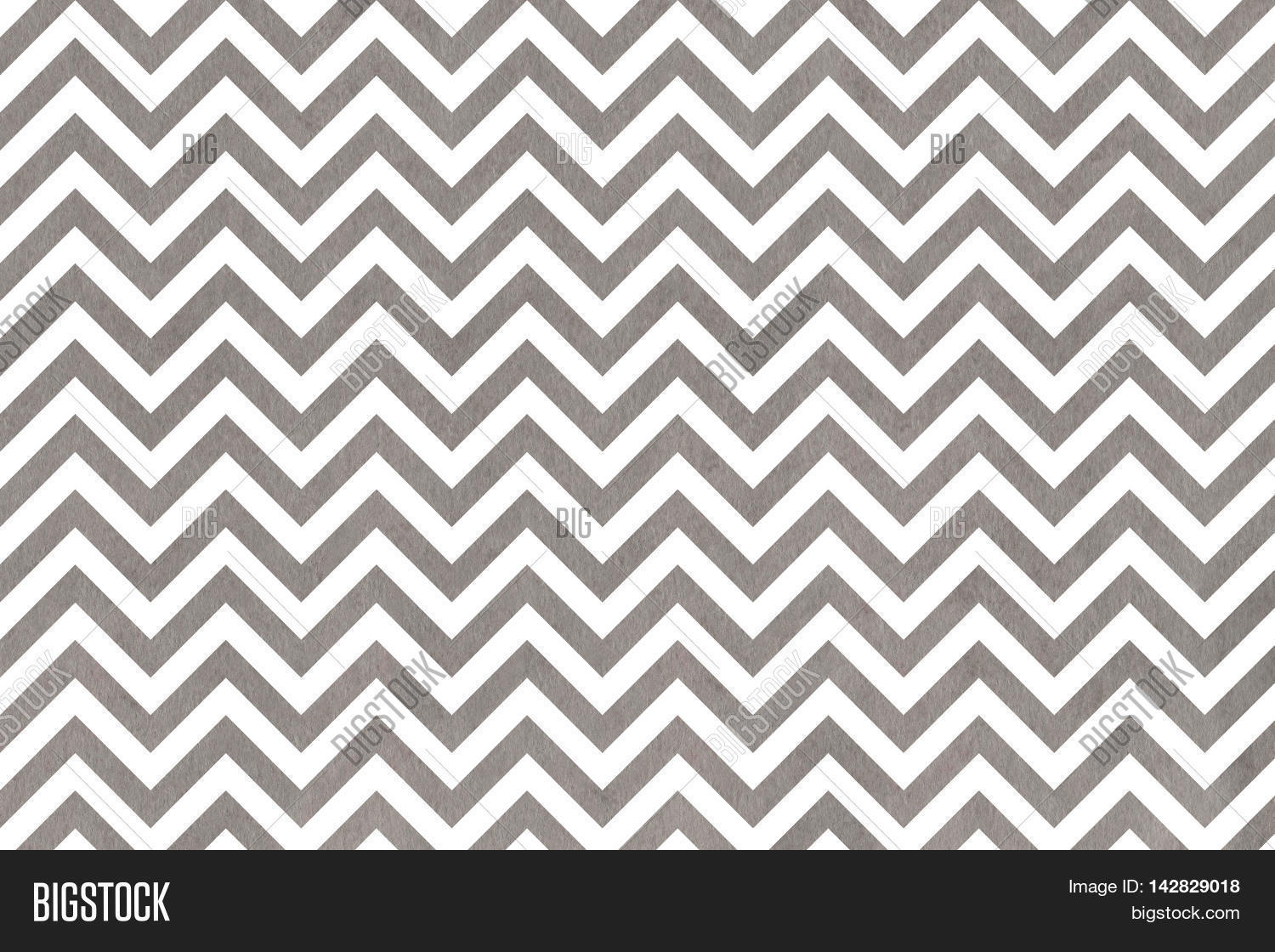 Watercolor Grey Stripes Background Chevron Abstract With On White