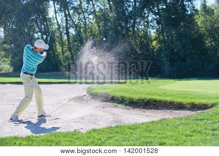 Playing From Sand Trap