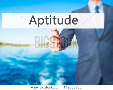 Aptitude - Business Man Showing Sign