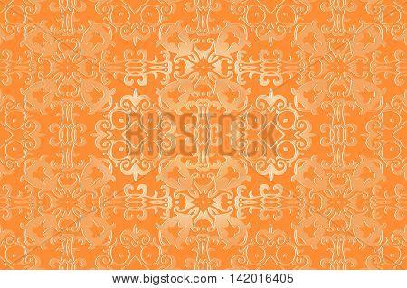 openwork pattern embossed vintage. Decor wallpaper under bright pastel colors