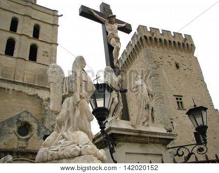Palais des Papes, the cathedral, Avignon - France