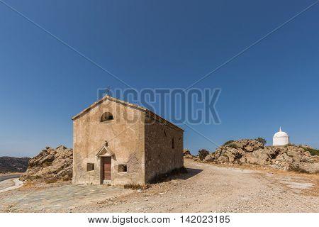 San Sebastiano Chapel Near Palasca In Corsica