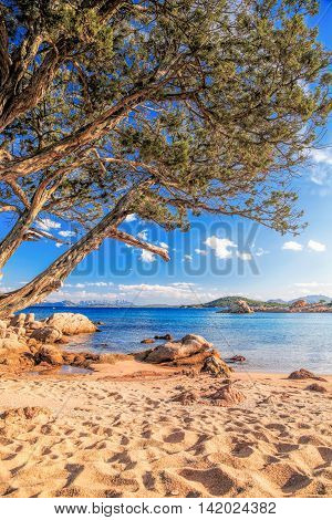 Capriccioli Beach On Sardinia Island, Costa Smeralda, Italy