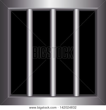 Steel bars of prison bars, Metal Background, Vector illustration