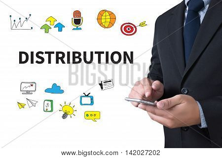 DISTRIBUTION businessman working use smartphone business man work