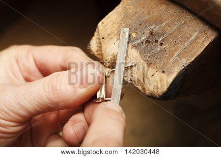 a handmade jeweler process, manufacture of jewelery