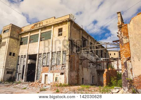 Old abandon paper mill in Kalety Poland Silesia Province - Europe.