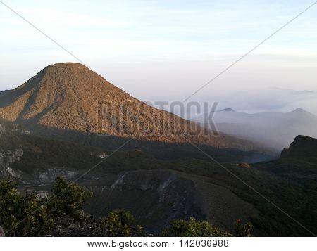 Pangrango mountain at morning time,west java Indonesia