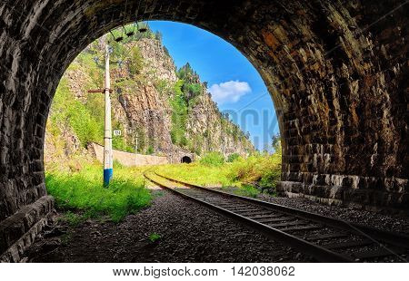 View From Tunnel To East. Circum-baikal Railway