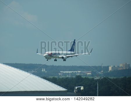 Aircraft Landing In Prague