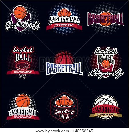 Basketball Color Tournament Logo