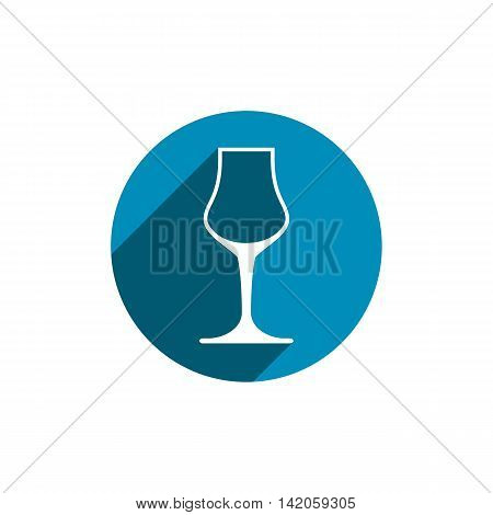 Sophisticated wine goblet stylish alcohol theme illustration.