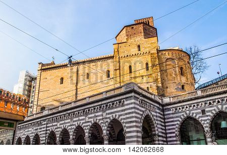 Santo Stefano Church In Genoa Hdr