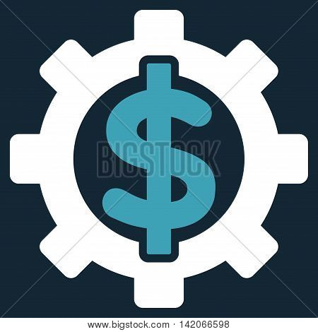 Financial Options vector icon. Financial Options icon symbol. Financial Options icon image. Financial Options icon picture. Financial Options pictogram. Flat blue and white financial options icon.