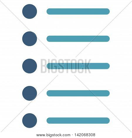 Items vector icon. Items icon symbol. Items icon image. Items icon picture. Items pictogram. Flat cyan and blue items icon. Isolated items icon graphic. Items icon illustration.