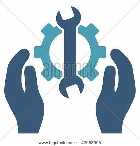 Repair Service vector icon. Repair Service icon symbol. Repair Service icon image. Repair Service icon picture. Repair Service pictogram. Flat cyan and blue repair service icon.