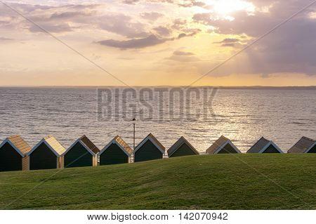 Sunset in Gurnard - Isle of Wight (UK)