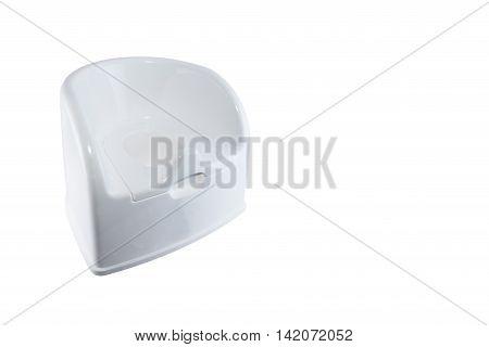Isolated child toilet potty on white background.