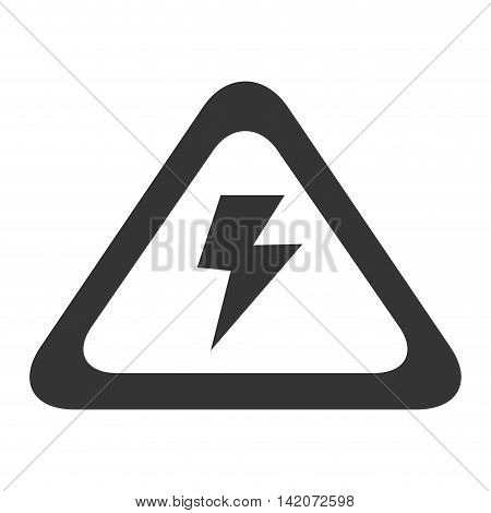 high voltage sign electricity volt caution power vector graphic isolated and flat illustration