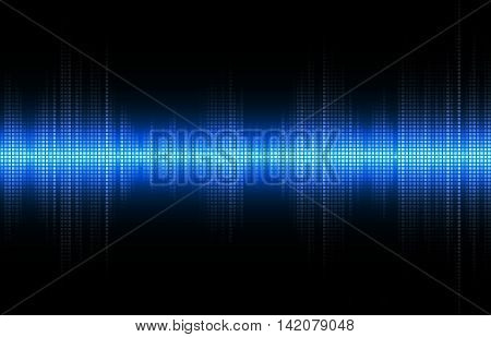 Abstract blue equalizer, frequency waveform graph. Vector illustration