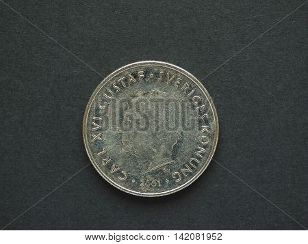 1 Swedish Krona (sek) Coin, Currency Of Sweden (se)