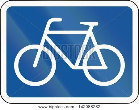 Road Sign Used In The African Country Of Botswana - The Primary Sign Applies To Cyclists