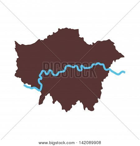 london map city area river united kingdom capital geography vector graphic isolated