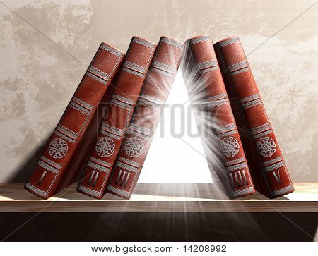 Mysterious Bookshelf