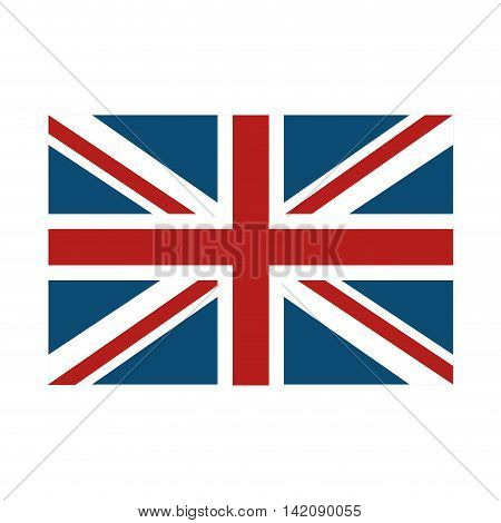flag london british united kingdom english real emblem stripes vector graphic isolated and flat illustration
