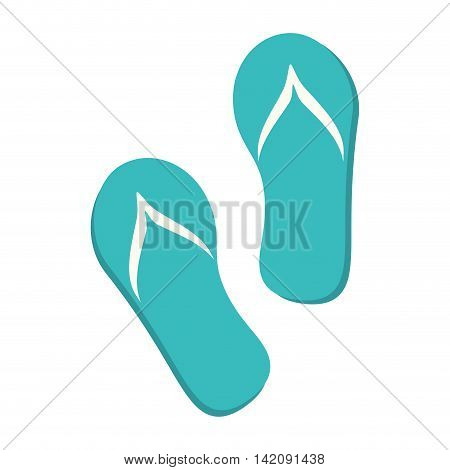 flip flop shoes summer vacation foot sand slippers vector graphic isolated and flat illustration