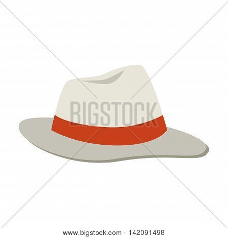 hat cap summer classic sea clothing headwear sun vector graphic isolated and flat illustration