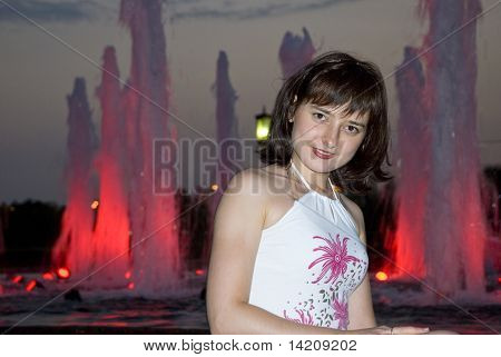 The Girl At A Fountain