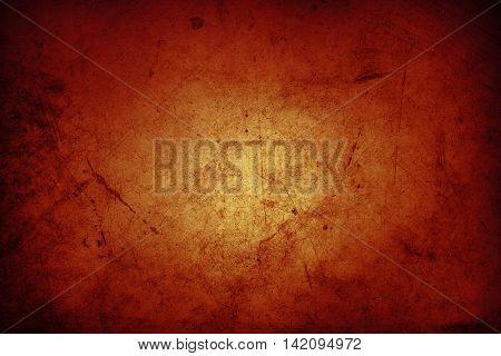 Orange grunge textured wall background